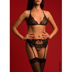 BELLINA Lace Suspender Belt with crystals from Swarovski