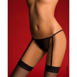MATADORA Tulle Thong with detachable suspenders